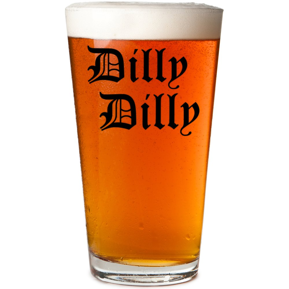 Daft & Co. Dilly Dilly Premium 16oz Beer Pint Glass (Black Single)