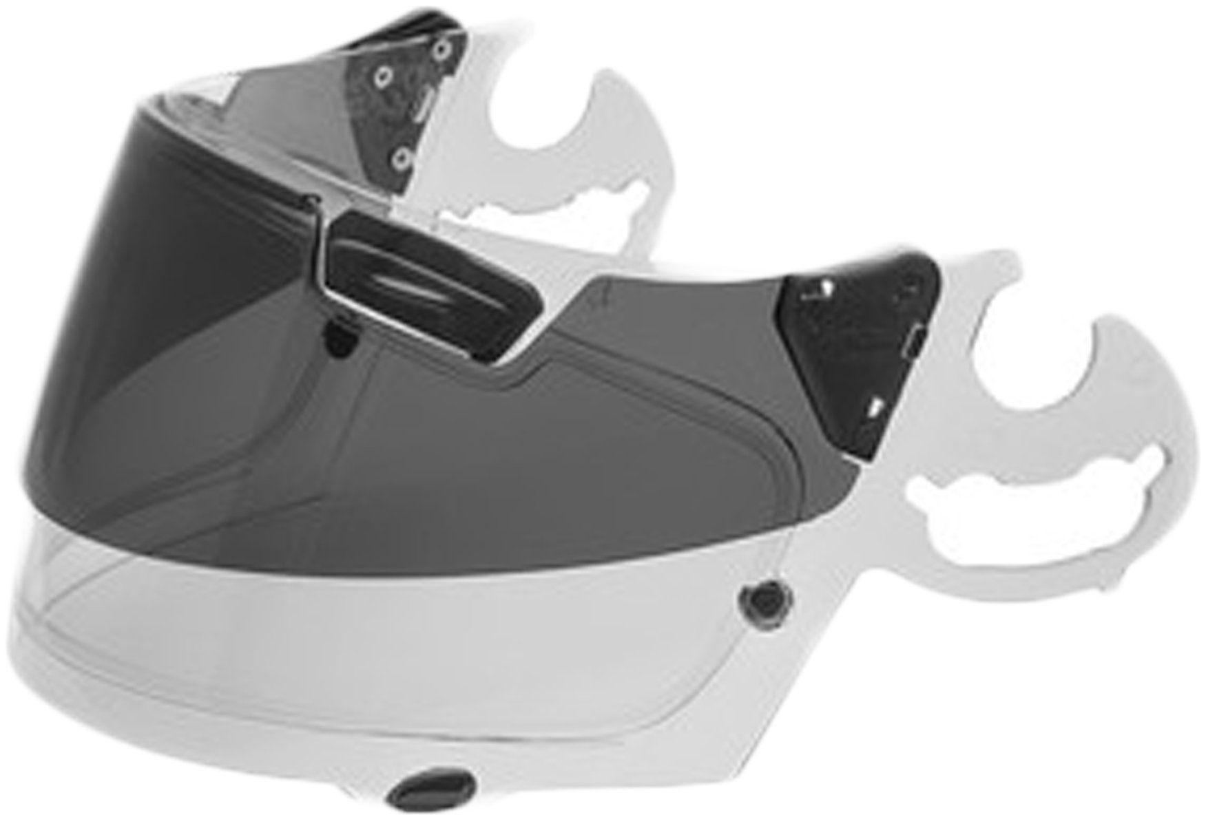 Arai SAI Pro Shade System Frame Only w/out Shield Men's Street Motorcycle Helmet Accessories - Black/White / One Size
