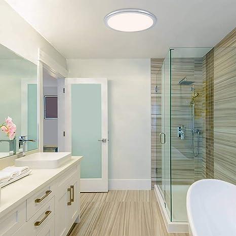 Rabalux - Lámpara de techo LED regulable para baño (LED, 24 ...
