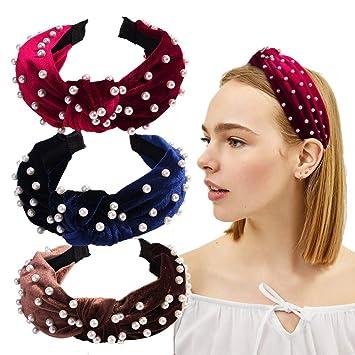 Victorian Style Blue Spotty Bow Hair Alice Band Headband Girls Women