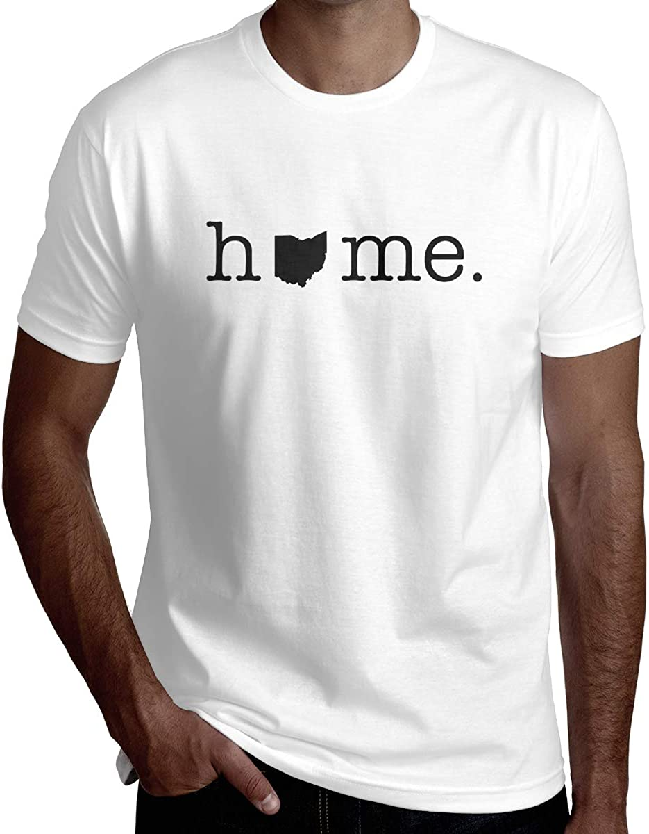 Home in Ohio State Mens Handsome Short-Sleeved T-Shirt Fashion T-Shirt Tee