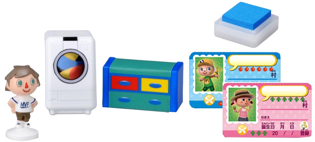 Takaratomy Animal Crossing New Leaf Boy and The Furniture Figure Stamp Set Japan VideoGames FG-490722