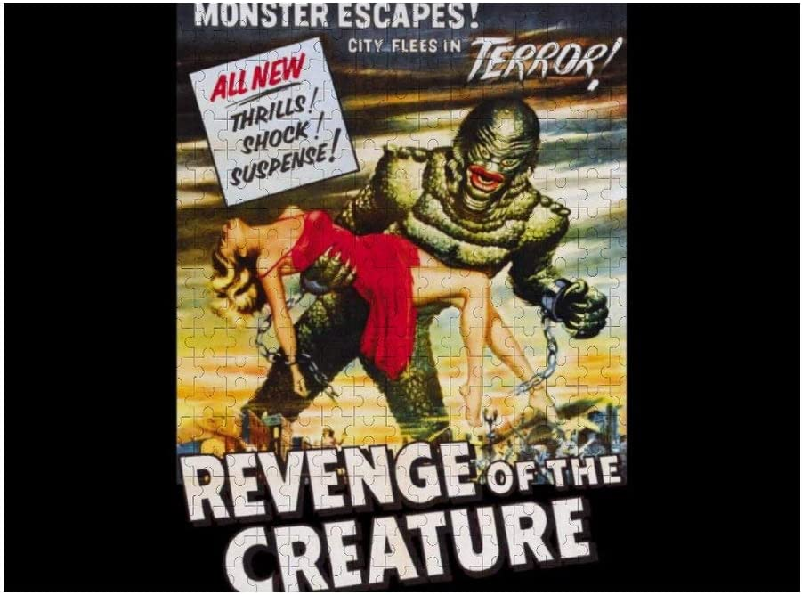 Revenge of The Creature Movie Poster Wooden Puzzle Jigsaw Puzzles 500 Pieces