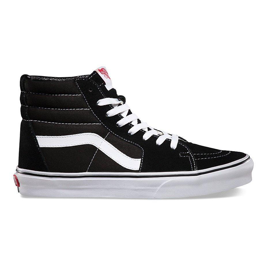 Vans Unisex Sk8-Hi Black/Black/White Skate Shoe 8.5 Men US/10 Women US