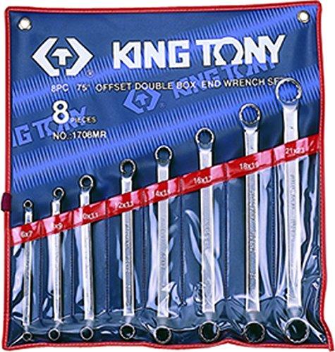 King Tony 1708mr contrecoudes Metric Combination Spanner Set, 8Piece Kit