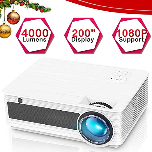 Ai LIFE Video proyector 4000 LM Proyector portátil LCD 1080P Full ...