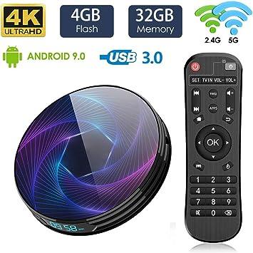 LAYZYX Smart TV 4K Da 128 GB Android 9.0 Box, 2.4G E 5.8G Dual WiFi