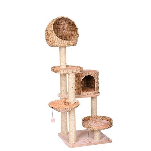AFCITY-pet Árbol para Gatos Una Cuerda de sisal Natural ...