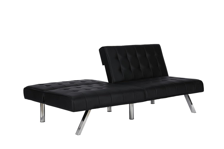dhp emily convertible futon black amazonca home  kitchen -