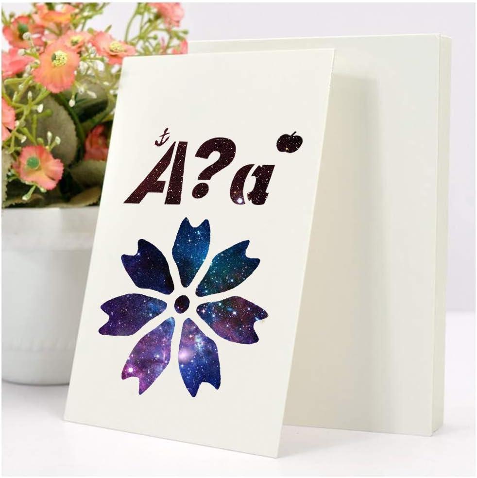/Álbum Libro de Recuerdos Manualidades BENECREAT 16PCS Plantilla de Flores Plantilla Pl/ástico de Dibujo Reutilizable para Cuaderno Ventana de Vidrio