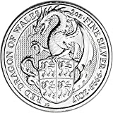 2017 UK Great Britain Silver Queen's Beast Dragon (2 oz) 5 Pound Brilliant Uncirculated Royal Mint