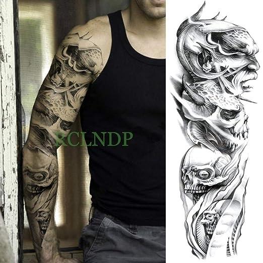 3 Piezas Etiqueta de Tatuaje a Prueba de Agua Brazo Completo Pulpo ...