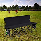 Giantex 4 Seats Folding Chair Portable Bench