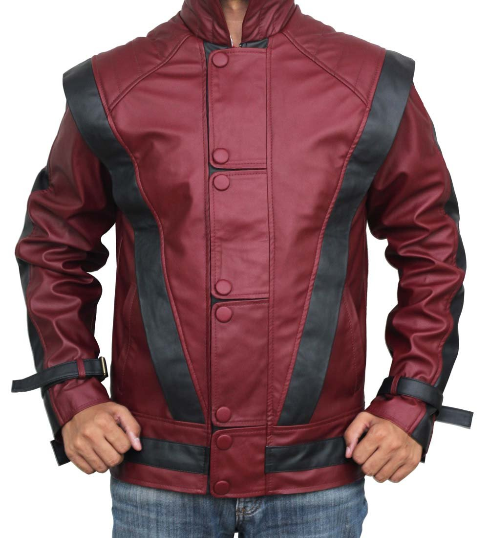 Red Leather Thriller Jacket For Men - Birthday Gift Ideas (L) by BlingSoul (Image #3)
