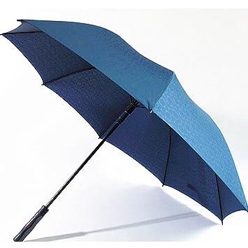 RF Paraguas mango largo automático soleado UV en días de lluvia con dos hombres, a