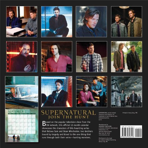Supernatural 2015 Wall Calendar The Television Series