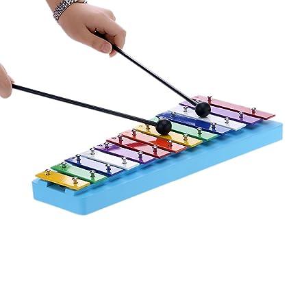 13 Bar Kids Glockenspiel Xilófono Nota Colorido Instrumentos de Percusión para la Educación El Ritmo de Juguete para el Niño del Bebé de los Niños