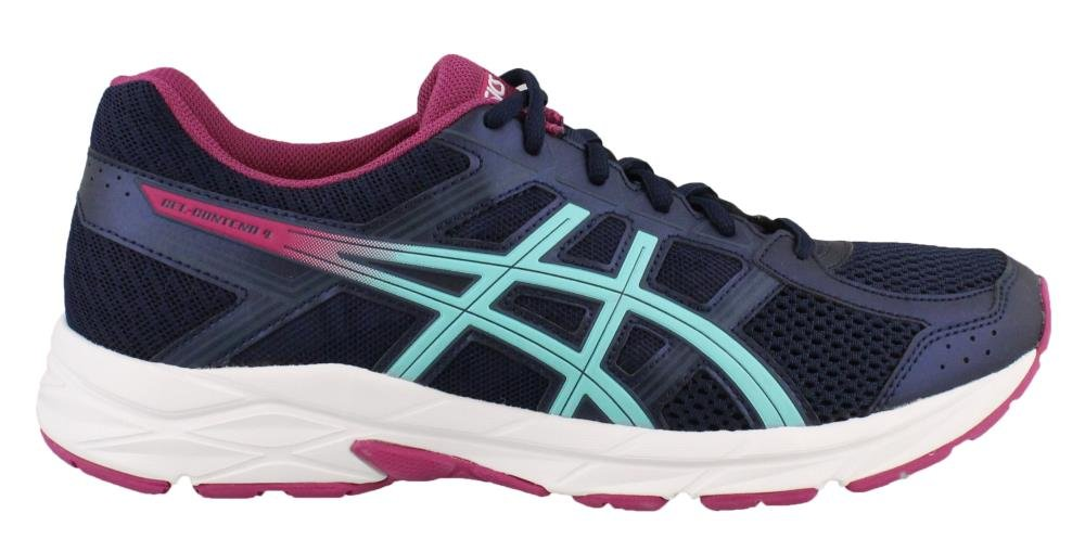 ASICS Women's Gel-Contend 4 Running Shoe B071F8YMTP 7.5 B(M) US|Peacoat Porcelain Blue Fuschia Red