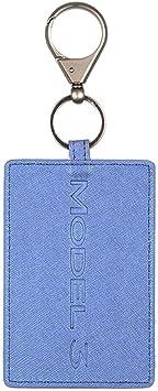 Gaoominy Schlüssel Karten Halter Für Tesla Model 3 Anti Staub Leder Mit Schlüssel Bund Für Tesla Model 3 Zubeh R Blau Küche Haushalt