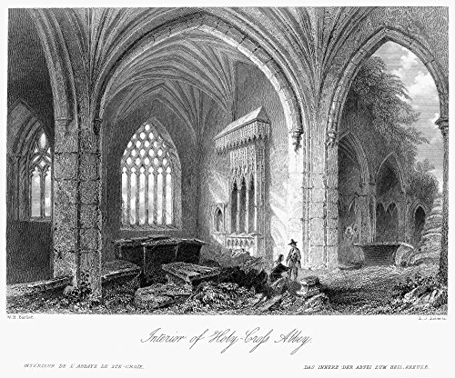 Ireland Holy Cross Abbey Ninterior View Of Holy Cross Abbey County Tipperary Ireland Steel Engraving English C1840 After William Henry Bartlett Poster Print by (24 x 36)