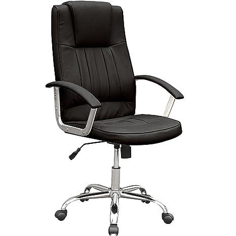 Miadomodo Poltrona sedia girevole da ufficio con serratura , Nero