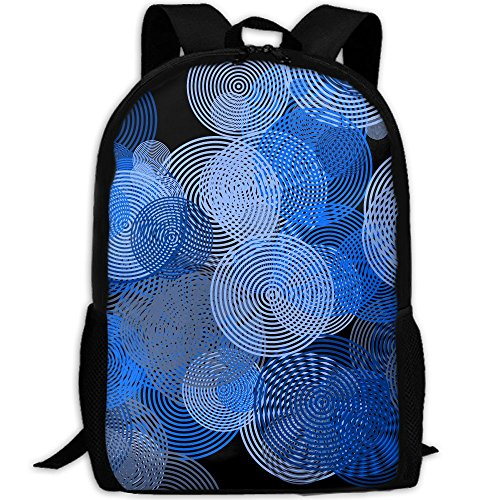 (CY-STORE Abstract Vertigo Circle Outdoor Shoulders Bag Fabric Backpack Multipurpose Daypacks For Adult)