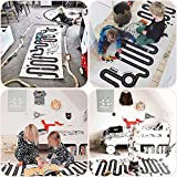 WINGOFFLY 27.5 x 68.5 Baby Infant Road Playmat