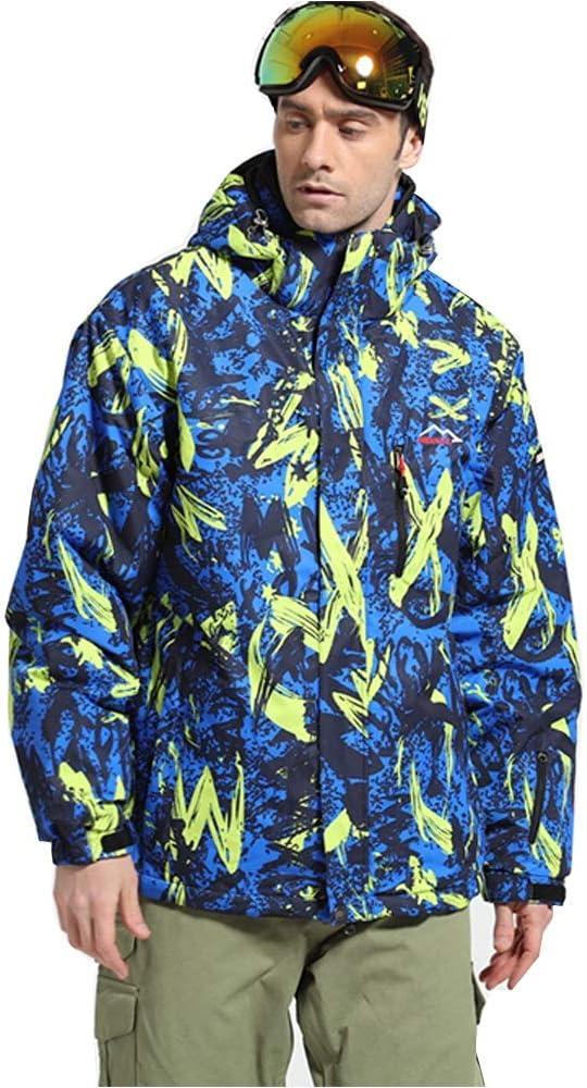 アウトドアスポーツスキージャケット スキースーツベニアダブルボードスキー登山防風防水暖かいアウトドアスポーツ (色 : 濃紺, サイズ : XXL) 濃紺 XX-Large