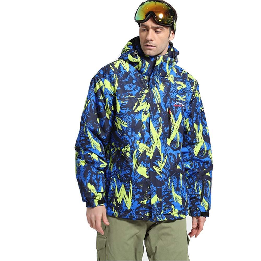 Yiwuhu Giacca da Uomo Ski Suit Veneer Double Double Double Board Sci Alpinismo Antivento Impermeabile Caldo Sport all'Aria Aperta Abbigliamento da Sci Invernale Ideale (Coloreee   verde, Dimensione   XXXL)B07MGFJYXBLarge Blu Scuro | Moda Attraente  | promozione  | Du 217bf3