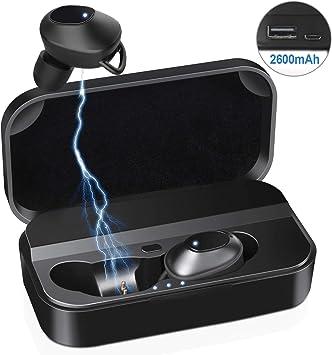 LeaderPro Ecouteur Bluetooth Oreillette Bluetooth sans Fil TWS 5.0 CVC 6.0 Mini, Appariement Automatique, Tactile, HiFi StéréoMono, Spécialement pour