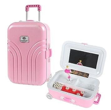 QYL Caja De Música para Maletas con Barra De Herramientas para Niñas Caja De Música para Decoración De Joyas para El Hogar con Una Chica Bailarina,Pink: ...