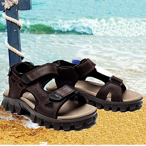 Sandali Scarpe da Uomo da Estive Scarpe Casual Marea Uomo Scarpe Spiaggia Brown Traspiranti LEDLFIE da da SYwqdpq