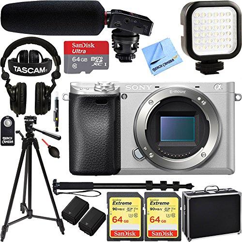 Sony a6300 4K Mirrorless Camera Body w/ APS-C Sensor Silver
