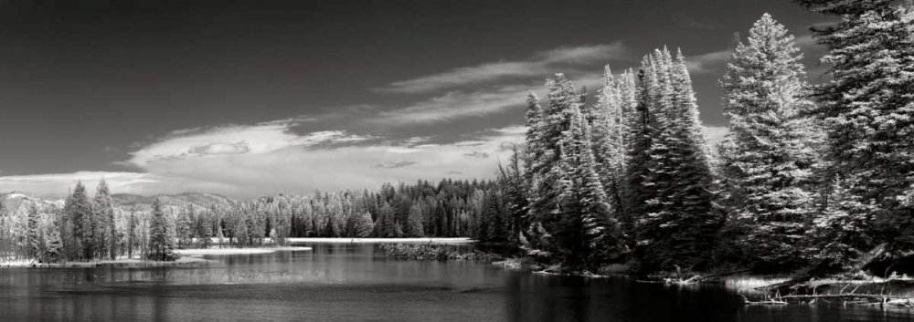 Yellowstone River - Fine Art Print on Canvas - Gallery Wrap - 50 x 18 Inch - Ready to Hang Wall Printing