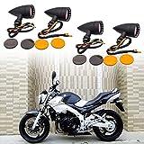 used harley parts - TUINCYN Motorcycle Aluminum Turn Signal LED Light?Mini Bullet Shape Motorbike Indicators Blinker Lights Retro Fits for Harley Honda Yamaha Suzuki Kawasaki Cruiser Chopper Cafe Racer (Pack of 4 )