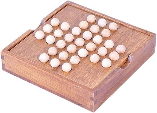 Desconocido bjduck99 - Juego de Mesa de ajedrez Solitario de Madera para Niños y Adultos: Amazon.es: Hogar