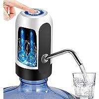 YOMYM Dispensador de Agua, Bomba de Agua de Carga USB, extraíble, Apto para Usar en Agua embotellada, dispensador de Agua para garrafas.