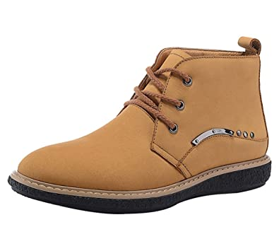 Men's Classic Lace Up Original Suede Leather Desert Wind Boots