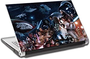 Star Wars Characters Personalized LAPTOP Skin Decal Vinyl Sticker ANY NAME L655, 14""