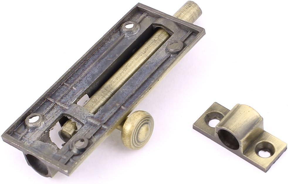 Aexit En alliage de Zinc pour porte de placard avec Verrou Targette coulissante en ton Bronze 697V430