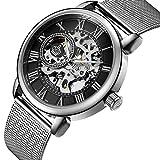 Sweetbless Wristwatch Men's Royal Classic Roman Index Handwind Mechanical Watch
