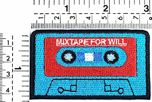 mix tape for will Cassette tape tape classic music punk rock song kids cartoon patch Applique for Clothes Great as happy birthday gift ()