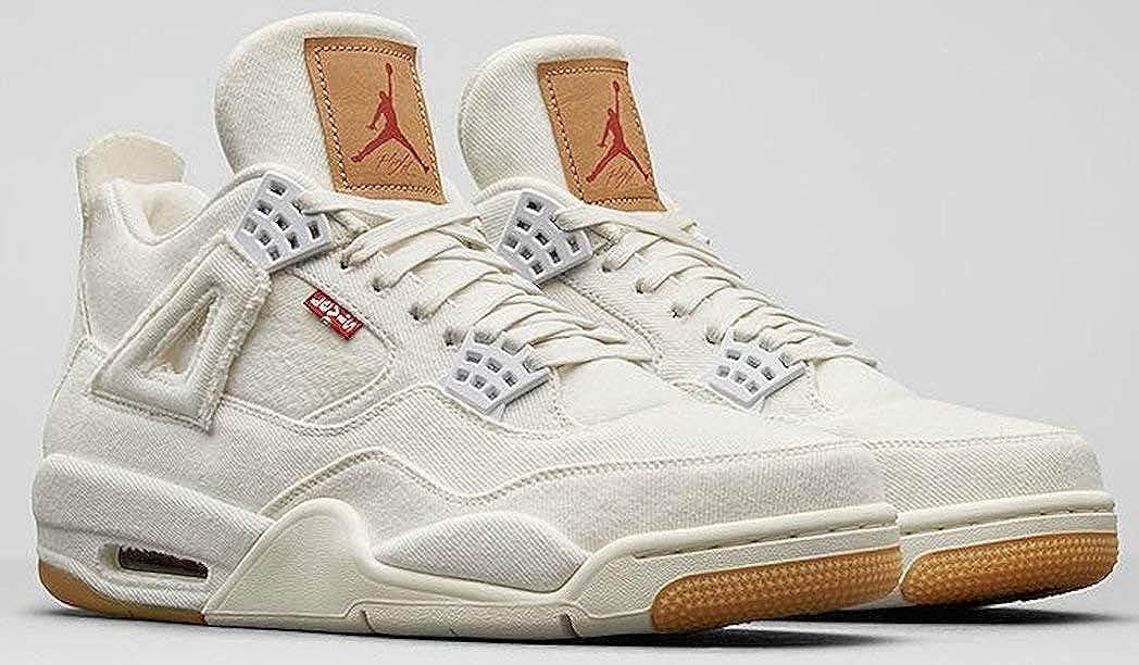 Bajar Ocho Atravesar  Levi'S X Air Jordan 4 Retro White Denim A02571 001 White Zapatos De  Baloncesto para Hombre: Amazon.es: Zapatos y complementos