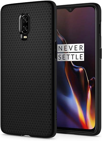 Spigen Funda Liquid Air Compatible con Oneplus 6T, Flexión Duradero y Diseño de Fácil Agarre - Negro Mate: Amazon.es: Electrónica