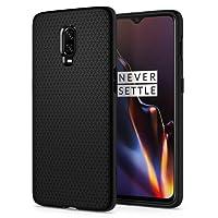Spigen [Liquid Air] Slim Protection Original Design Ergonimic Grip Flexible TPU Phone Case/Cover for OnePlus 6T / One Plus 6T / OP6T (2018) - Black K07CS25308