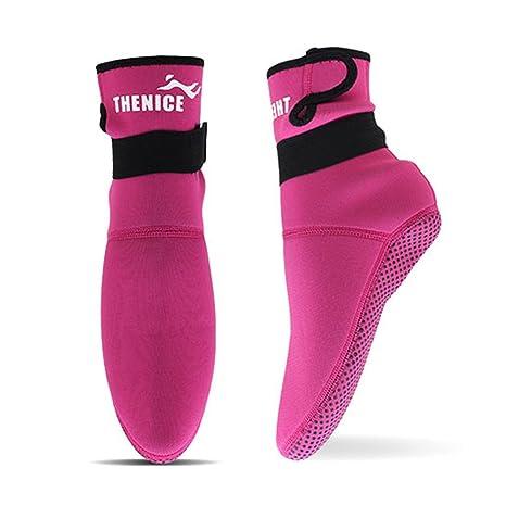Lixada 3mm Neopreno Buceo Calcetines Botas Agua Zapatos Playa Botines Snorkel  Buceo Botas Surf para Hombres 552519ef2cd