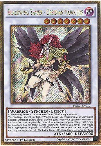 Yugioh Blackwing Tamer Obsidian Hawk Joe PGL2-EN012 Gold Secret Rare 1st Ed