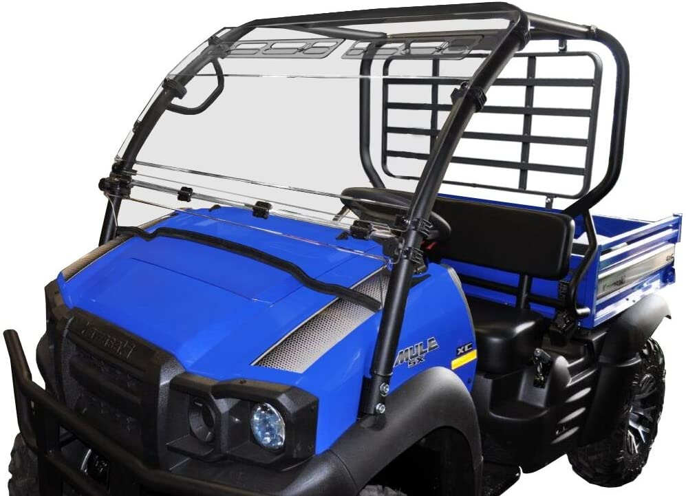 Kawasaki Mule SX Hinged Windshield W//Upper Vents-HC