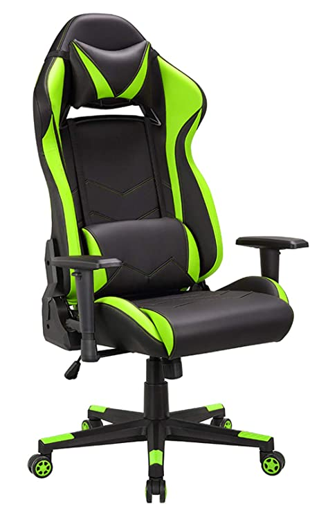 IntimaTe WM Heart Silla Gaming, Racing Silla Ergonómica Oficina, Inclinación y Altura Regulable, Reposabrazos Ajustables, Cojin Lumbar Y Almohada ...