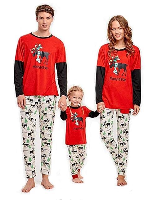 CHRONSTYLE Conjunto de Pijamas Familiares de Navidad, Trajes ...
